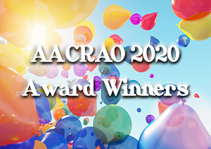 photo of balloons with text: AACRAO 2020 Award Winners