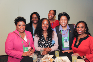 members of the AACRAO black caucus at the 2019 Annual Meeting