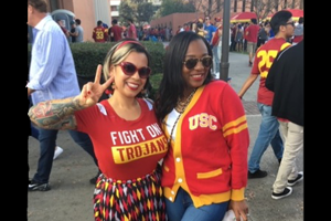 The researchers in their USC gear.