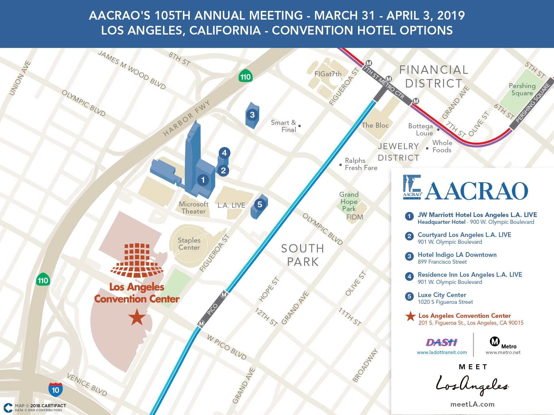 2019 Annual Meeting -  Map of Hotels